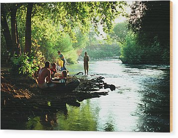 Wood Print featuring the photograph The River by Dubi Roman