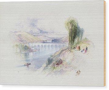 The River Schuykill Wood Print by Thomas Moran