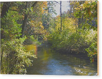 The River  Wood Print by Sheryl Thomas