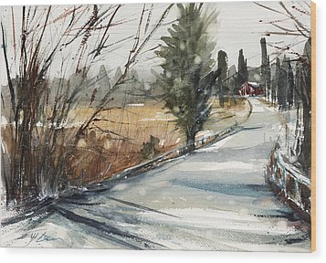 The Road Home Wood Print by Judith Levins