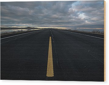 The Road Wood Print by Justin Johnson
