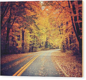 The Road Less Traveled Wood Print by Lisa Russo