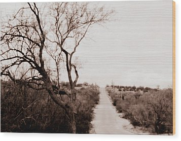 The Road Less Traveled Wood Print
