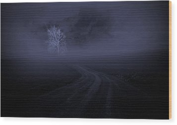 Wood Print featuring the photograph The Road by Robert Geary