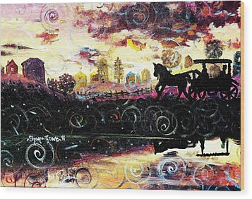 Wood Print featuring the painting The Road To Home by Shana Rowe Jackson