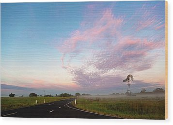 The Road To Morning Wood Print by Odille Esmonde-Morgan