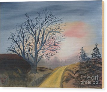 The Road To... Wood Print by Rod Jellison