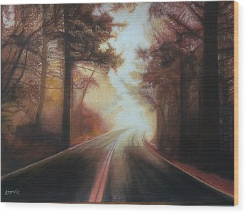 The Road To Somewhere Wood Print by Harvey Rogosin