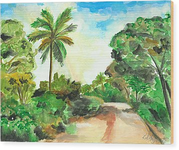 The Road To Tiwi Wood Print
