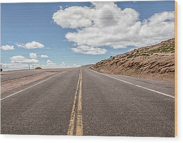 The Road Up Pikes Peak At Around 12,000 Feet Wood Print