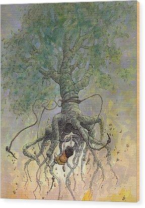 The Roaming Oak Wood Print by Ethan Harris