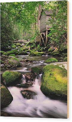 The Roaring Fork And Reagan's Mill Wood Print by Thomas Schoeller