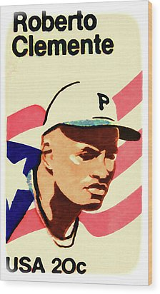The Roberto Clemente  Wood Print by Lanjee Chee