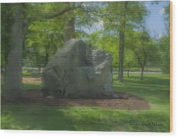 The Rock At Frothingham Park, Easton, Ma Wood Print