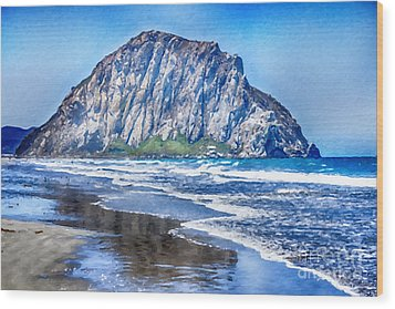The Rock At Morro Bay Large Canvas Art, Canvas Print, Large Art, Large Wall Decor, Home Decor, Photo Wood Print by David Millenheft