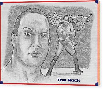 The Rock Wood Print by Chris  DelVecchio