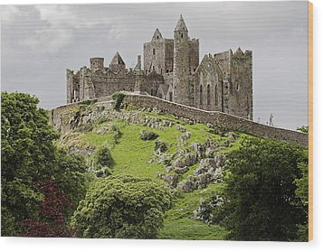 The Rock Of Cashel Ireland In Summer Wood Print by Pierre Leclerc Photography