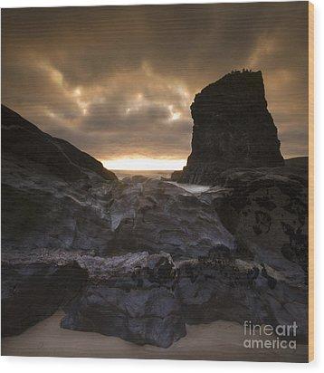 The Rocks Wood Print by Angel  Tarantella