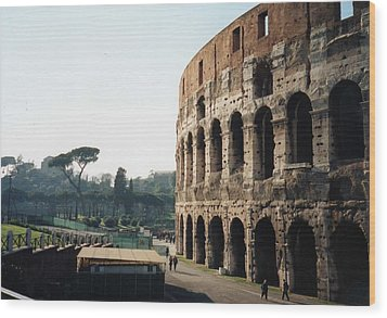The Roman Colosseum Wood Print by Marna Edwards Flavell