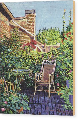 The Roof Garden Wood Print by David Lloyd Glover