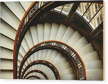The Rookery Spiral Staircase Wood Print