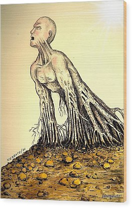 The Roots Are Deep Wood Print by Paulo Zerbato