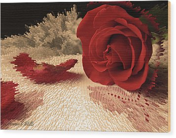 The Rose Wood Print by Bonnie Willis
