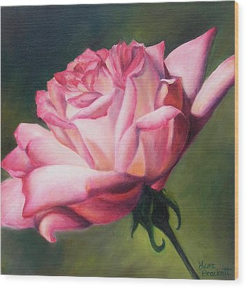 Wood Print featuring the painting The Rose by Lori Brackett