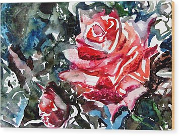 The Rose Wood Print by Mindy Newman