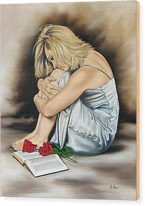 The Rose Of Sharon Wood Print by Ilse Kleyn