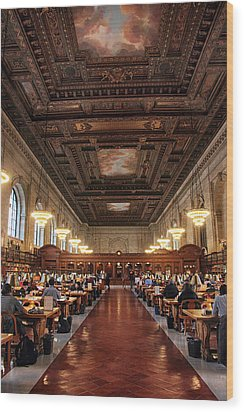 Wood Print featuring the photograph The Rose Reading Room II by Jessica Jenney