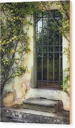 The Rose Vined Door Wood Print by Lynn Andrews