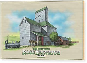 The Ross Elevator Wood Print