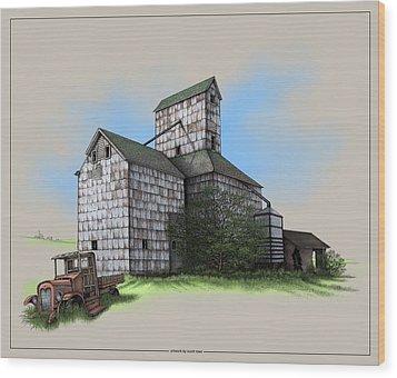 The Ross Elevator Version 5 Wood Print