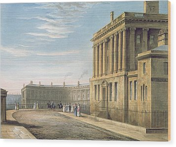 The Royal Crescent Wood Print by David Cox