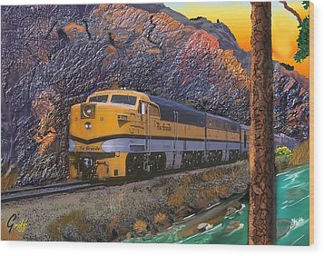 The Royal Gorge Wood Print by J Griff Griffin