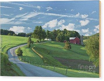 The Rudy Farm Wood Print by Nicki McManus