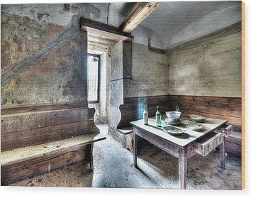 The Rural Kitchen - La Cucina Rustica  Wood Print