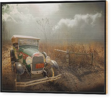 The Rural Route Wood Print