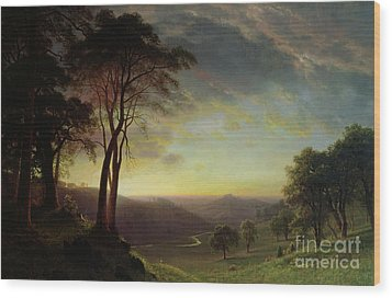 The Sacramento River Valley  Wood Print by Albert Bierstadt