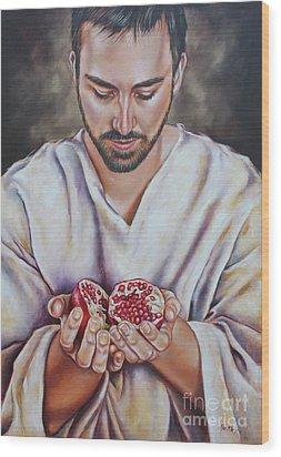 The Sacrifice Of Jesus Wood Print by Ilse Kleyn