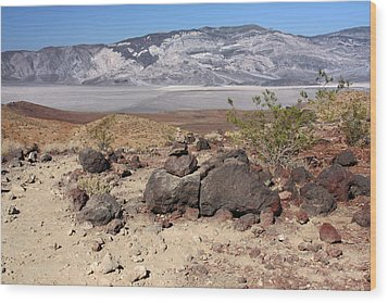 The Salt Flats Of Death Valley Wood Print by Christine Till