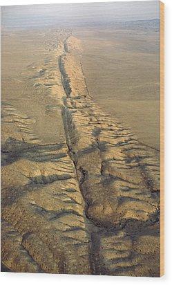 The San Andreas Fault Slashes Wood Print by James P. Blair