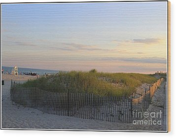 The Sand Dunes Of Long Island Wood Print by Dora Sofia Caputo Photographic Art and Design