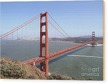 The San Francisco Golden Gate Bridge 7d14507 Wood Print
