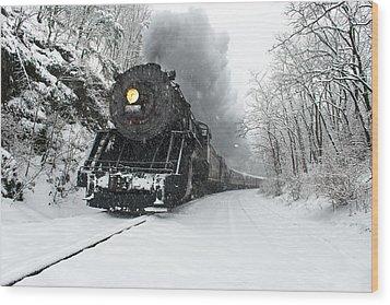 Wood Print featuring the photograph The Santa Express by Bernard Chen