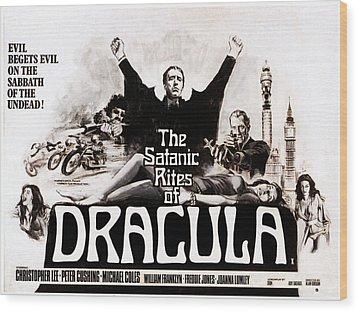 The Satanic Rites Of Dracula, Center Wood Print by Everett
