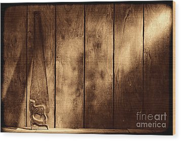 The Saw Wood Print by American West Legend By Olivier Le Queinec