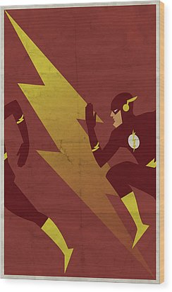 The Scarlet Speedster Wood Print