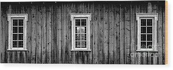 The School House Wood Print by Brad Allen Fine Art